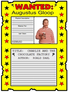 13 Wanted Posters - Agustus Gloop Example