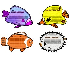 Fun Dive Into Reading Fish Shaped Book Report Project Templates