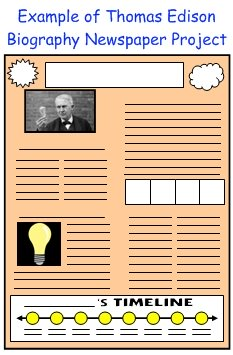 Thomas Edison Biography Newspaper Project
