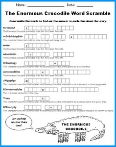 Enormous Crocodile Worksheet Set