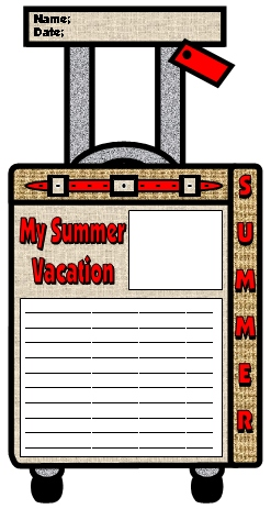 My Summer Vacation Fun Suitcase Writing Templates and Projects