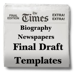Nonfiction Biography Book Report Project Templates