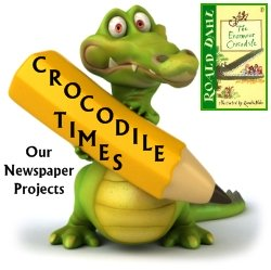 Enormous Crocodile Roald Dahl Newspaper Creative Writing Projects and Templates