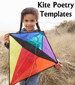 Kite Making Templates and Worksheets Elementary School Students Poetry