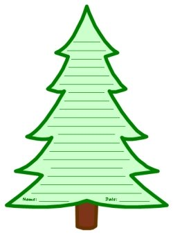 Winter Pine Tree Creative Writing Templates and Worksheets