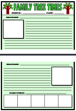 Large Newspaper Creative Writing Templates for Student Projects