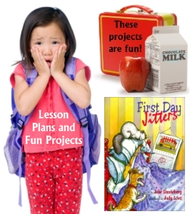 First Day Jitters Fun Projects for Students, Lesson Plans, and Ideas
