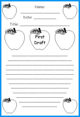 Apple Theme Creative Writing Worksheet First Draft