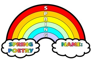 Rainbow Acrostic Poem Example for Spring