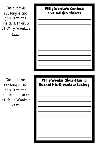 Willy Wonka's Chocolate Factory Character Projects and Templates