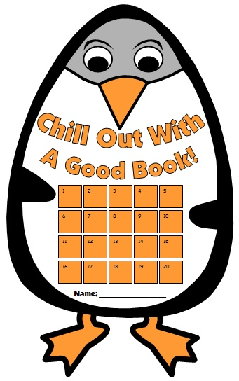 Penguin Reading Sticker Charts and Templates for Winter