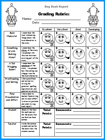 Free Book Report Project Grading Rubric