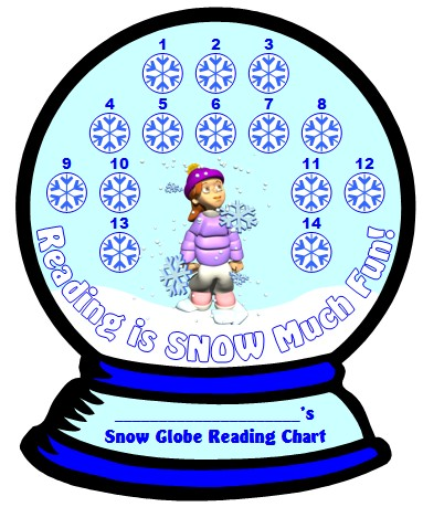 Winter and Christmas Reading Sticker Chart Templates for Elementary School Students
