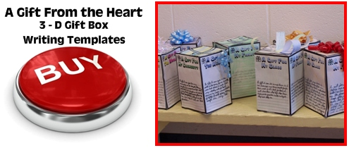 3D Three Dimensional Gift Box Projects and Creative Writing Templates