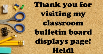 Classroom and Bulletin Board Display Ideas From Unique Teaching Resources