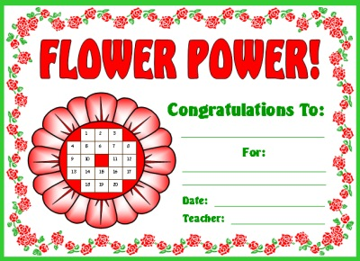 Spring Flower Student Awards and Certificates