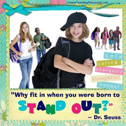 Dr Seuss Quotes - Why fit in when you were born to stand out?