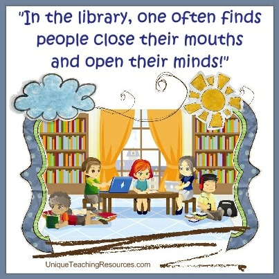 Quotes About Libraries - In the library, one often finds people close their mouths and open their minds!