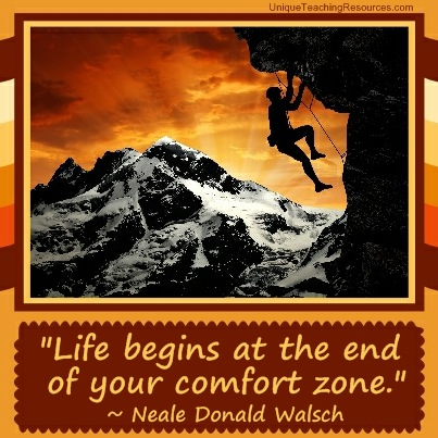Famous Motivational Quotes - Life begins at the end of your comfort zone.