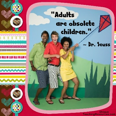 Quotes by Dr Seuss - Adults are obsolete children.