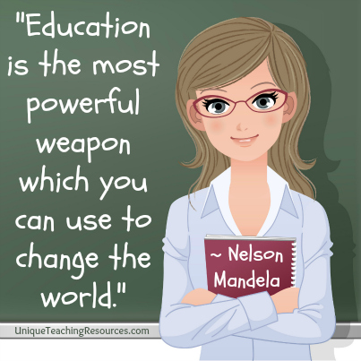 Famous Nelson Mandela Quote Education is the most powerful weapon which you can use to change the world.