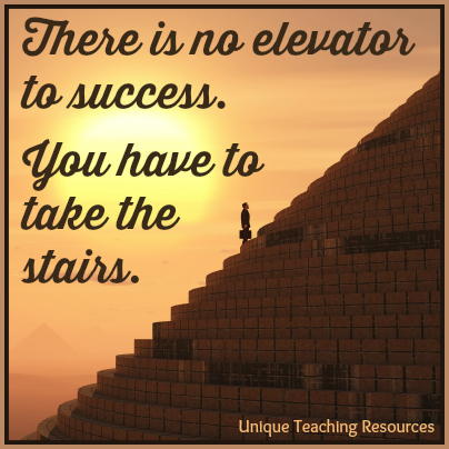 There is no elevator to success - Motivational Quote