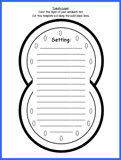 Sandwich Book Report ProjectsTomato Templates and Worksheets for Setting