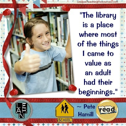 The library is a place where most of the things I came to value as an adult had their beginnings. Pete Hamill