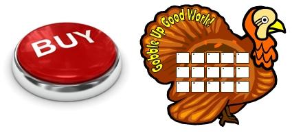 Thanksgiving Turkey Sticker Chart Templates Buy Now Button