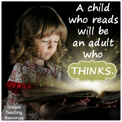 Reading Quote - A child who reads will be an adult who thinks.