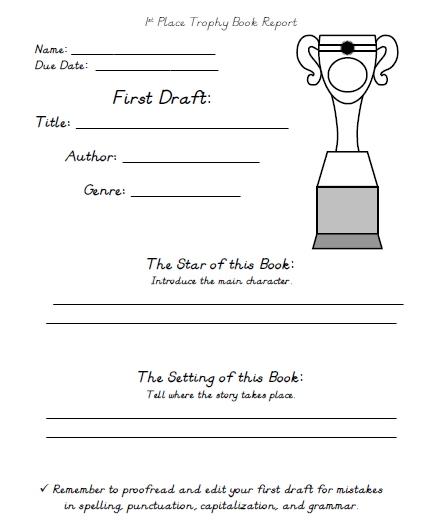 My Favorite That I Read Printable Worksheets