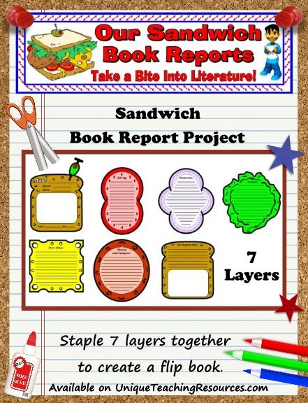 Sandwich Templates - Fun Book Report Project Ideas