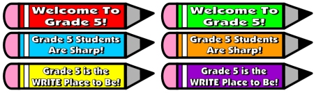 Grade 5 Back to School Teaching Resources
