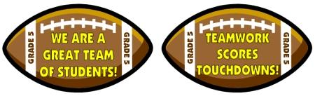 Football and Sports Classroom Decoration Ideas for Elementary Teachers