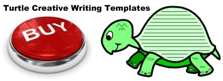 Turtle Shaped Creative Writing Templates and Projects for Elementary School Students