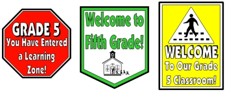 Back To School Bus Road Signs For Grade 5 Students