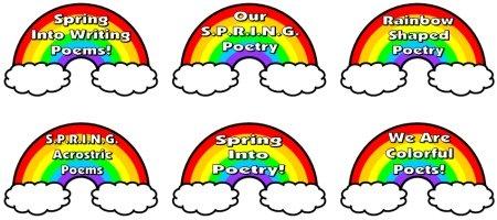 Spring Rainbow Bulletin Board Display for Acrostic Poems