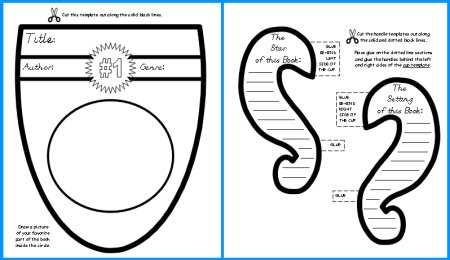 First Place Trophy Book Report Templates