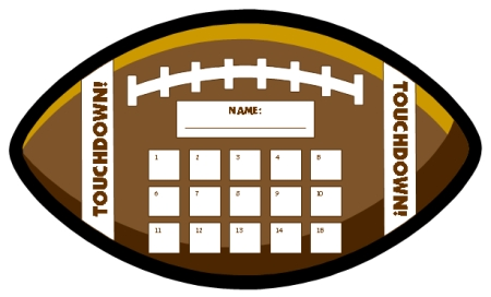 Football Sticker Charts Incentive Chart and Sports Templates