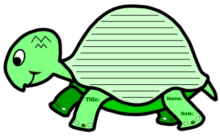 Turtle Creative Writing Templates and Worksheets