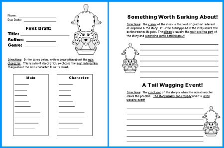 Free Book Report Project First Draft Worksheets