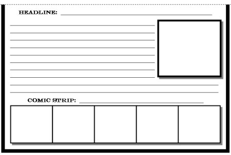 Newspaper Templates and Printable Worksheets