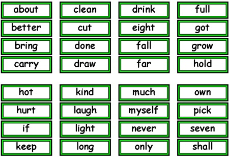 Free Dolch Sight Words Flashcards and Teaching Resources