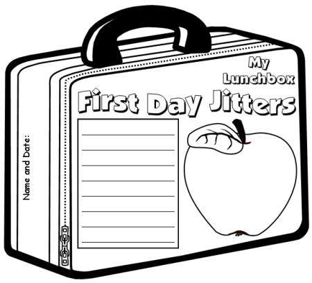 First day jitters lesson plans author julie danneberg for First day jitters coloring page