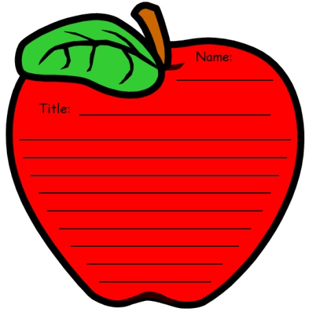Apple Themed Creative Writing Templates and Worksheets
