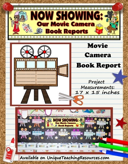 Creative Book Report Project Ideas - Movie Camera Templates