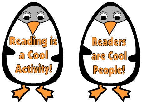 Reading Bulletin Board Display Ideas and Examples for Winter Penguins