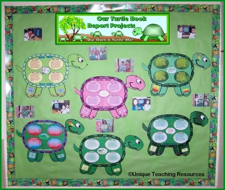 Turtle Bulletin Board Display For Fun Turtle Book Report Projects