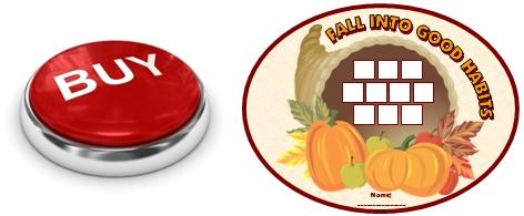 Fall, Autumn, and Thanksgiving Cornucopia Sticker Chart Buy Now