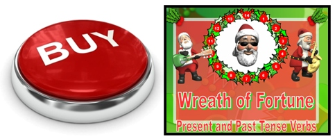 Fun Christmas Past and Present Tense Verbs Powerpoint Presentation and Lesson Plans